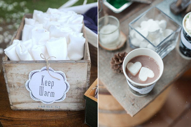 9 Cute & Cosy Ideas For Winter Wedding Guests