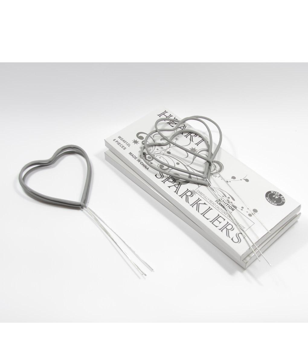 Heart Sparklers 72 pack | Wedding Sparklers USA