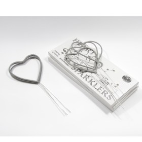 Heart Sparklers 72 pack