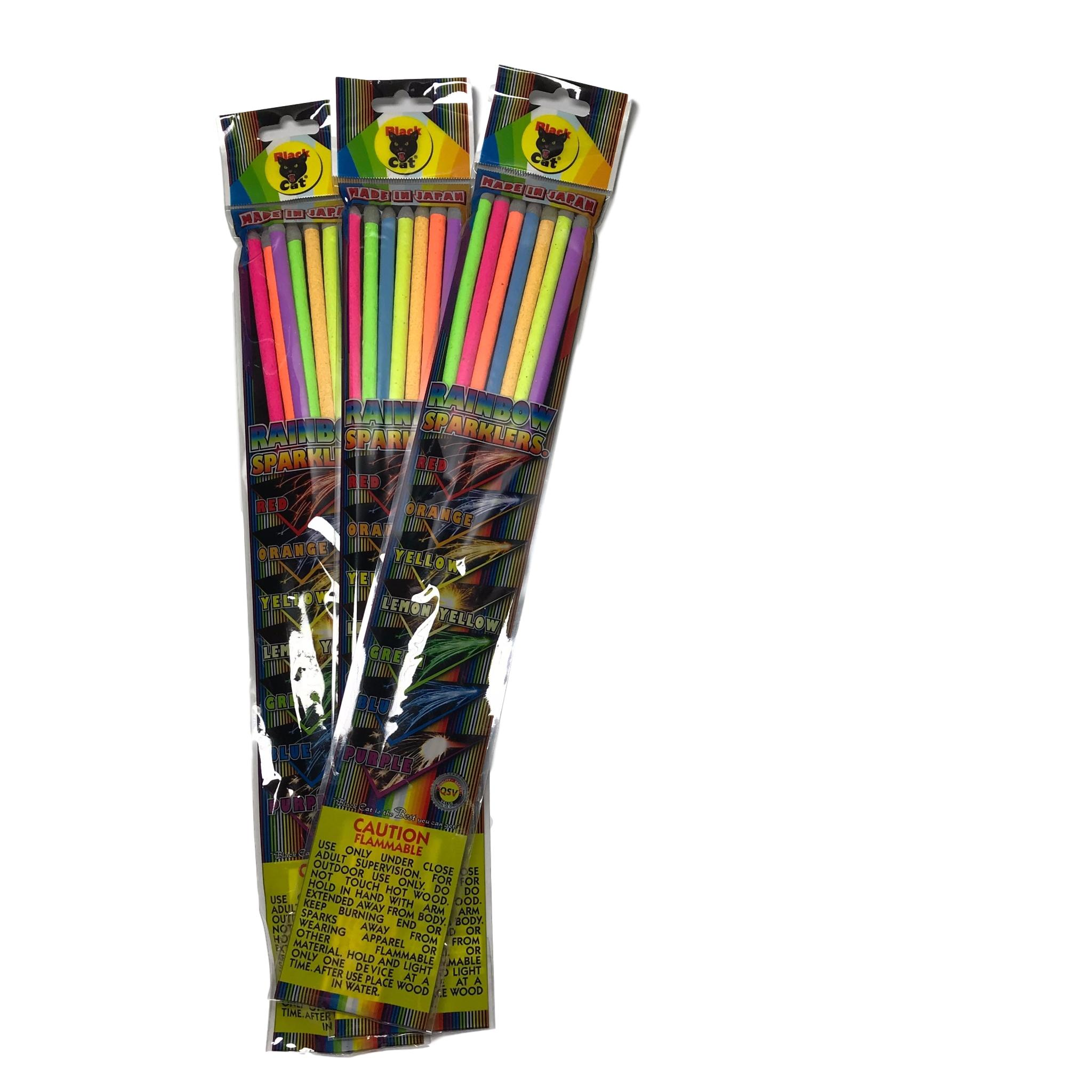 14 Inch Black Cat Neon Sparklers, 72 Pack | Wedding Sparklers USA