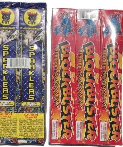 July 4th Sparkler Assortment Package 144 Sparklers