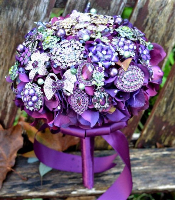 Teal Purple And Silver Wedding
