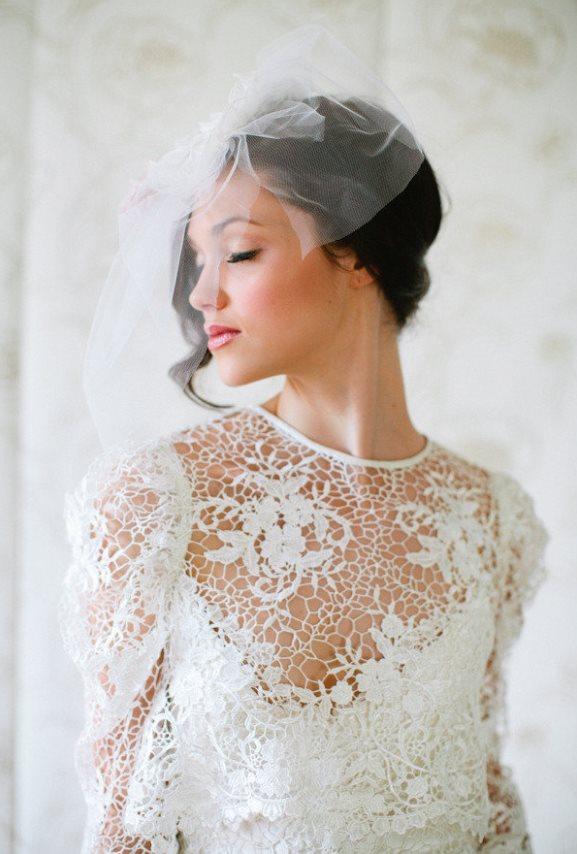 Short Wedding Veils Headpieces Archives Weddings Romantique
