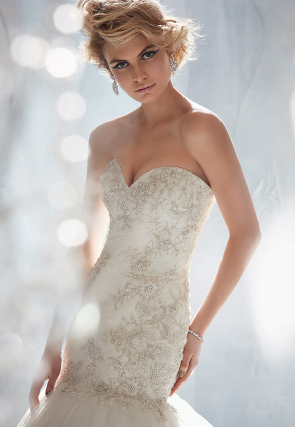 Silver Wedding Theme Bridal Gowns By Mori Lee By Madeline