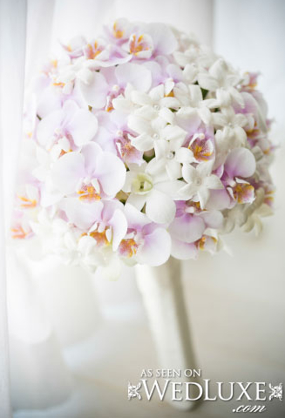 Luxury blush pink orchid bouquet