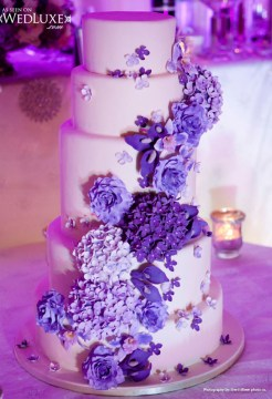 Luxury purple wedding cake Archives   Weddings Romantique Luxury purple wedding cake