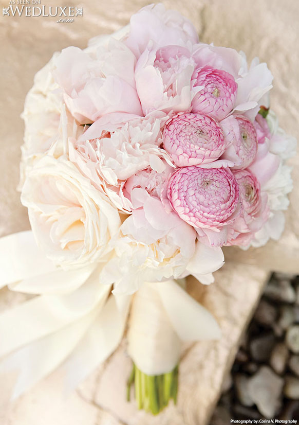 luxury blush pink and ivory wedding bouquet