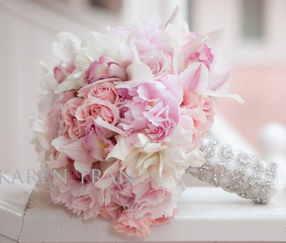 luxury blush pink wedding bouquet