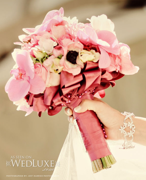 luxury spring wedding bouquet
