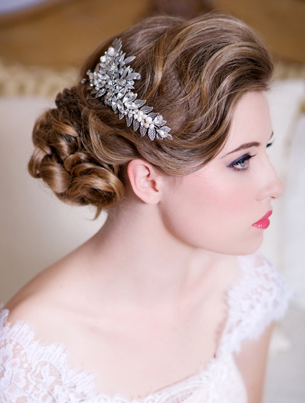 glam bridal hair accessories crystals and pearls wedding headpiece