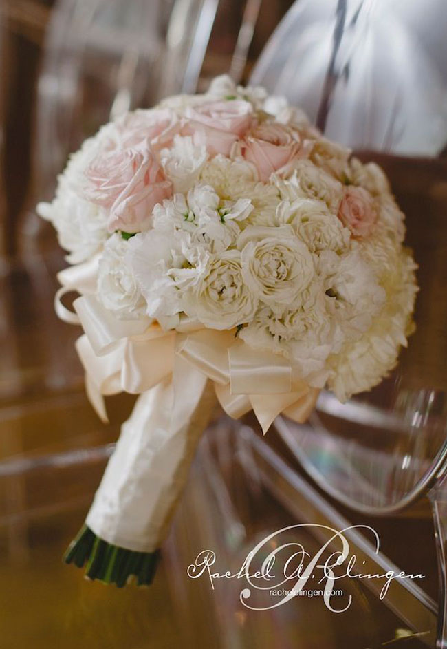 Blush Pink Wedding Bouquet _Rachel A. Clingen