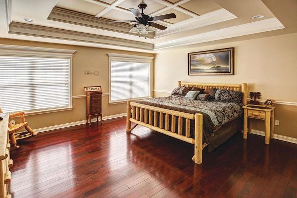 Master Bedroom in Custom Home