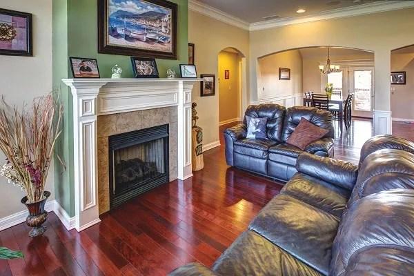 Living Room in Custom Home