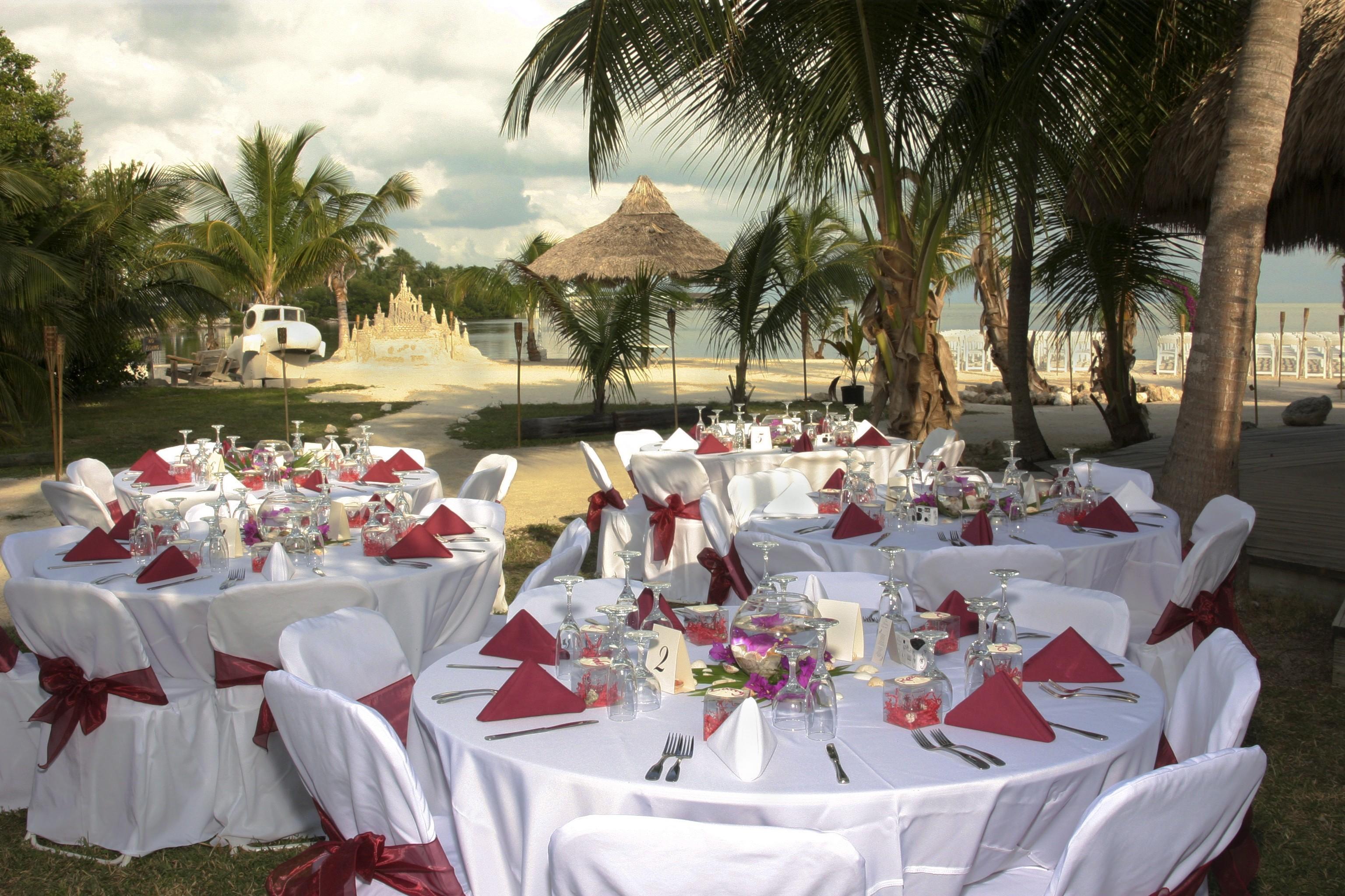 White Theme Beach Wedding Party