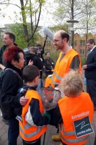 Thorsten Haas bei einer Putzaktion im Jahr 2011