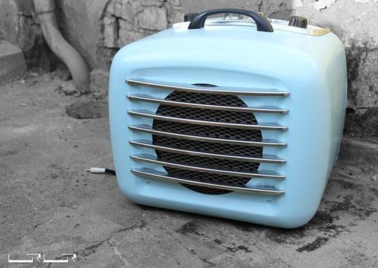Heizlüfter Modell Blue Velvet (C) Urmurks