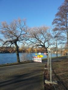 Nordhafen Park gesperrt