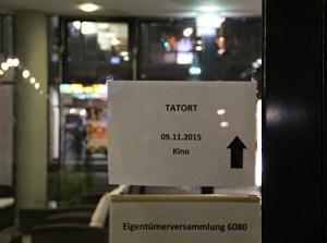 Da lang geht es zur Tatort-Premiere. Foto: Hensel