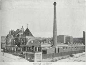 Die Vorlage: Die Wiesenburg 1905. Die Vorlage: Die Wiesenburg 1905. Historisches Foto.