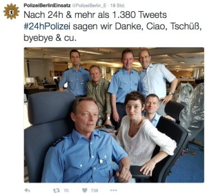 Twitter Team der Berliner Polizei
