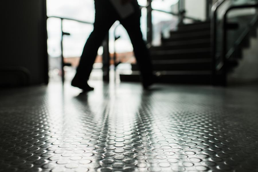 Unverkennbarer Tegel-Fußboden