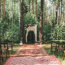 Бохо в лесу: свадьба Евгения и Анастасии