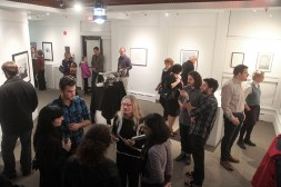 During the opening of the Creative Paths exhibition.