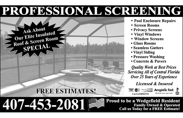 Professional Screening Wedgefield Florida