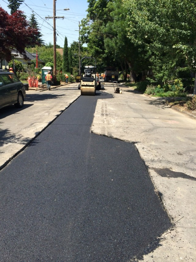Paving completed by S2 Contractors in SE Main Street.
