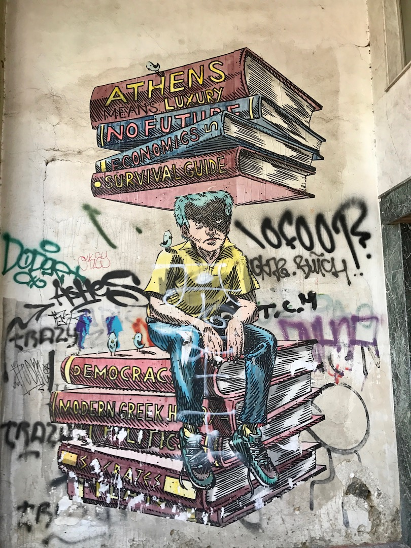 Graffiti art with meaning - From The Higher Number Of Abandoned And Crumbling Buildings To The Graffiti To The Staggering Unemployment Rates The Face Of Athens Has Indeed Changed A