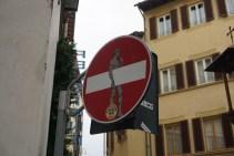 Florence street sign man