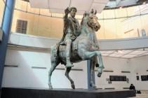 Marcus Aurelius, now housed inside the Capitoline Museum