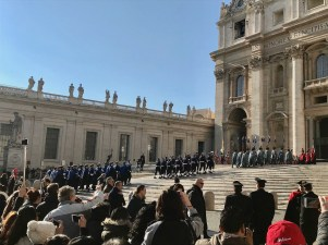 Rome xmas day bands marching