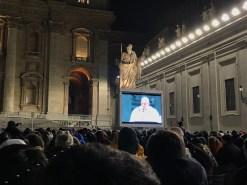 Rome xmas eve screen pope
