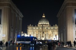 Rome xmas eve square overview