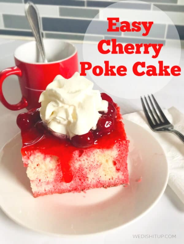 Easy Cherry Poke Cake