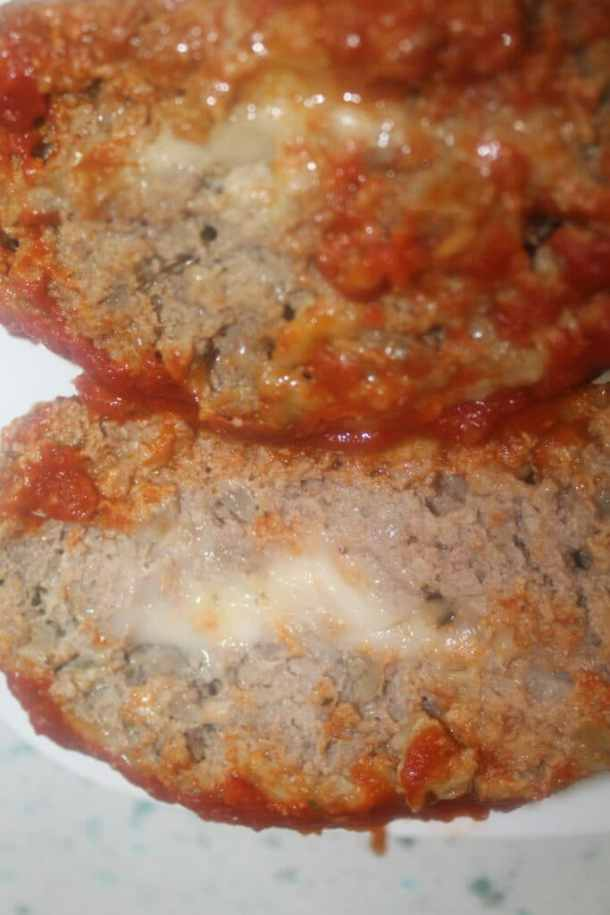 amazing stuffed meatloaf slices