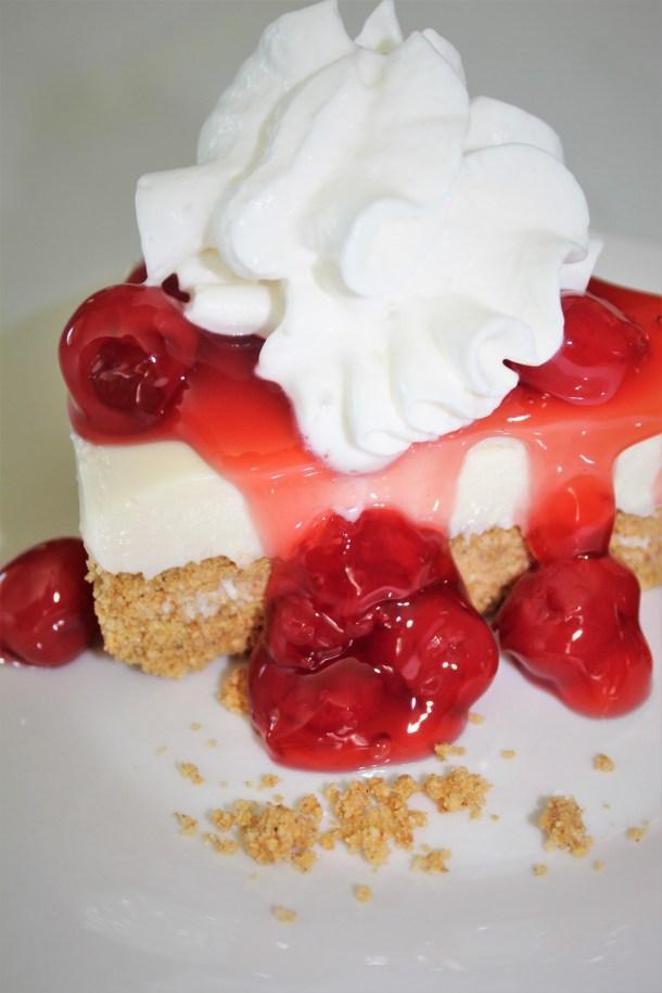 The Best No Bake Cherry Cheesecake
