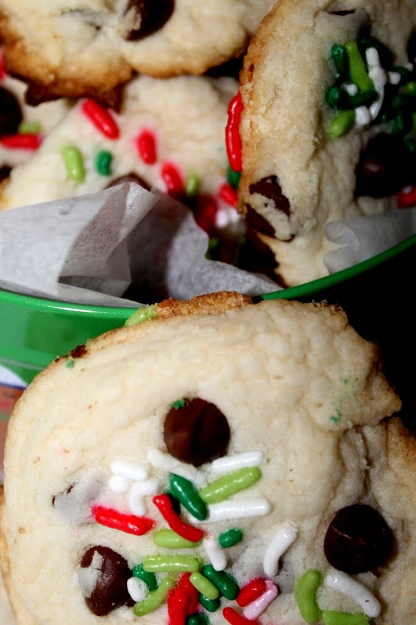 Christmas Cookies in Tin