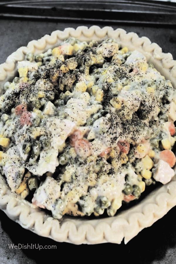Top View Pot Pie