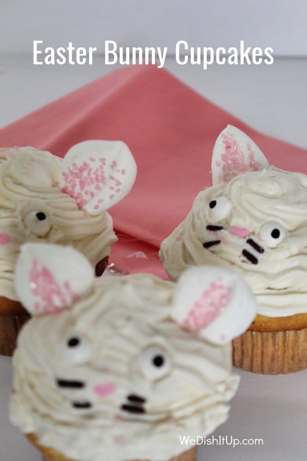 3 Bunny Cupcakes