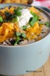 White Chicken Chili With Black Beans