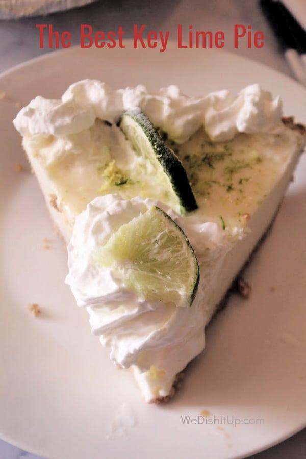 Key Lime Slice   on Plate