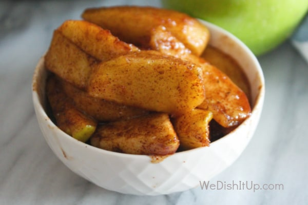 Fried Apples in Bowl