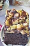 Rocky Road Poke Cake on Plate