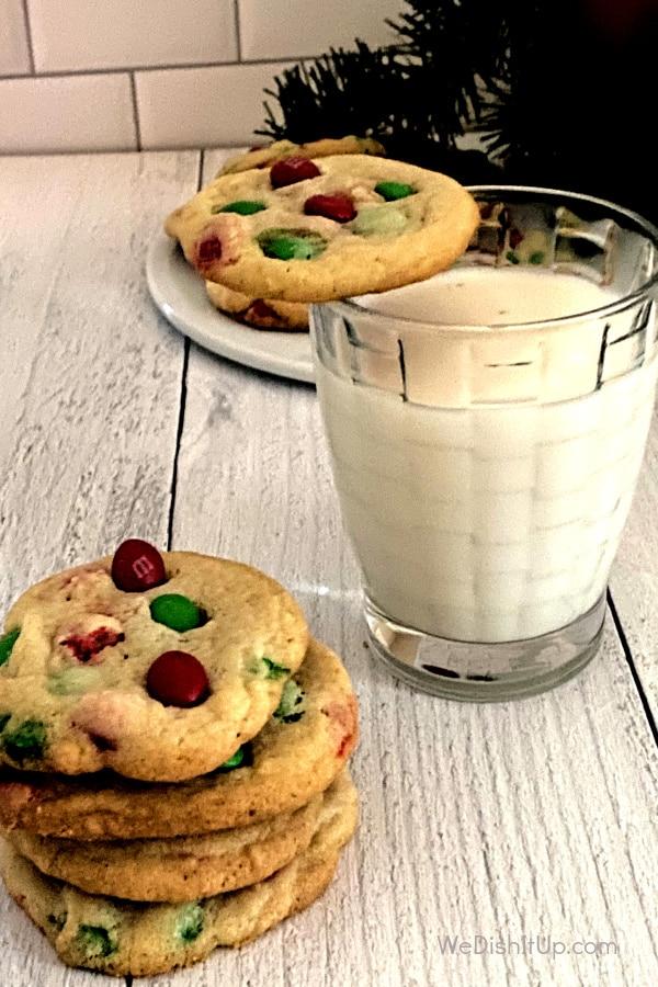 M&M Christmas Cookies