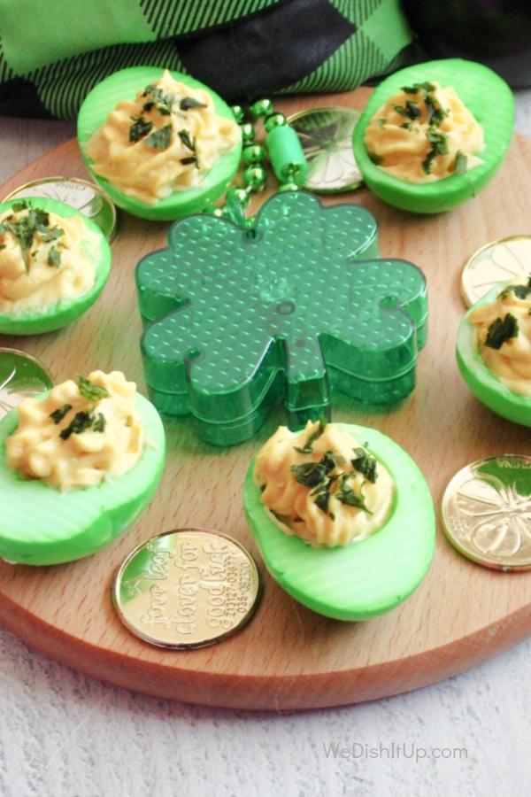Luck of the Irish Deviled Eggs