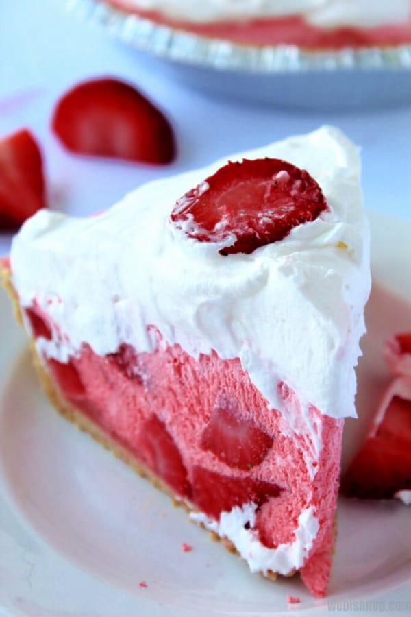 Mile High Strawberry Pie