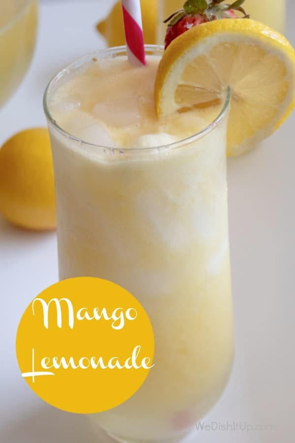 Easy Refreshing Homemade Mango Lemonade