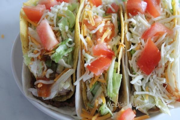 Shredded Chicken Double Decker Tacos